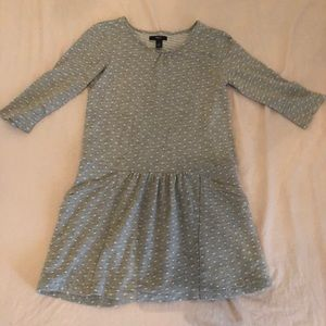 Gap Girls Dot Shirred Dress With Pockets